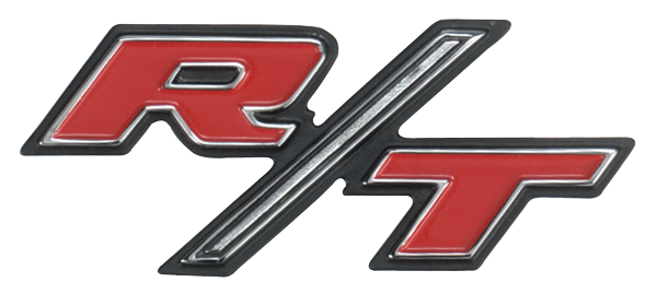 1969 Charger R/T headlight door emblem. Includes mounting hardware.