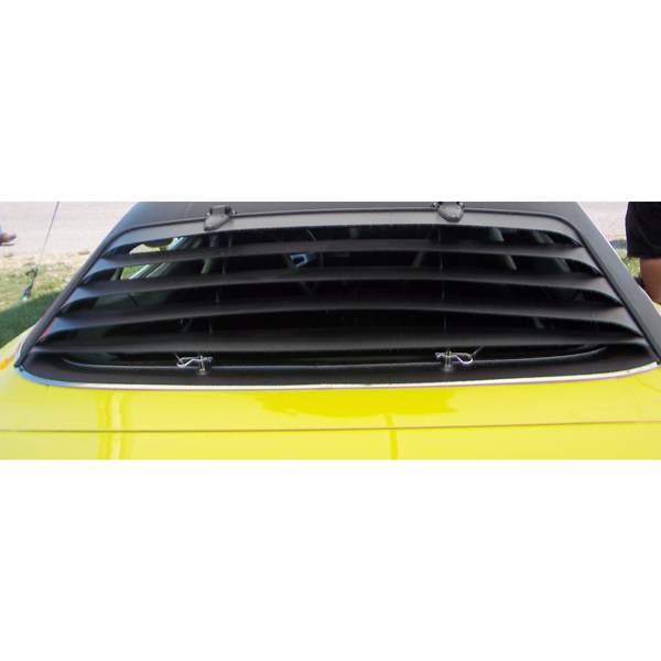 Reproduction aluminum rear window louver kit for 1970-1974 Barracuda models.