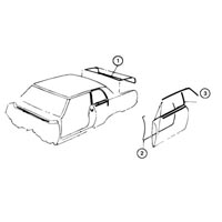 Mini weatherstripping kit for 1964-1965 Cutlass 2-door hardtop models.