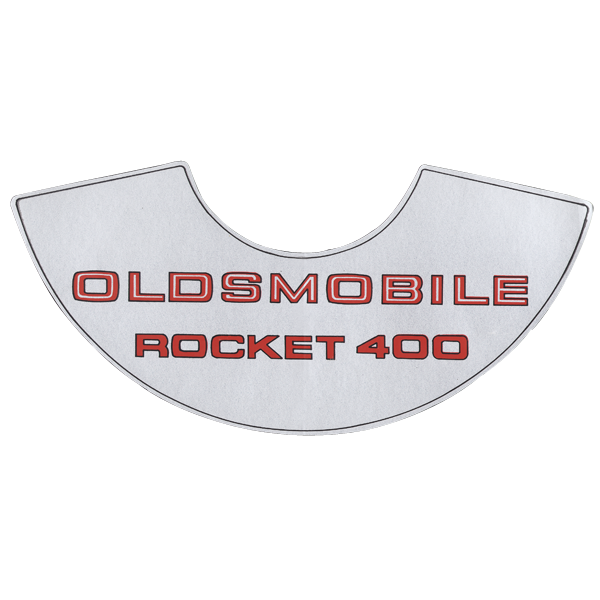 Rocket 400 air cleaner decal fits 1969 Cutlass and 442 models with 4-bbl and A/T.
