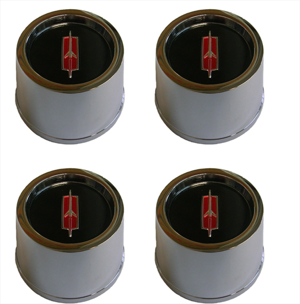 Super Stock I center cap chrome  with insert and retainer. Reproduction Set of 4.