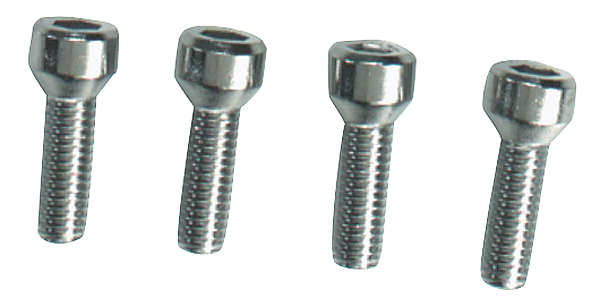 Reproduction chrome-plated window crank screws, fits all Dodge and Plymouth models. Package of 4, enough for one car.