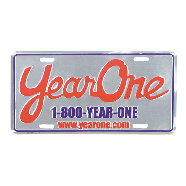 Year One license plate as seen on the 2 Fast 2 Furious Yenko Camaro and Hemi Challenger.