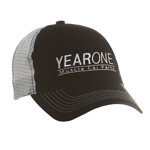 YearOne trucker-style hat with vintage YEARONE Muscle Car Parts logo. Color : Black