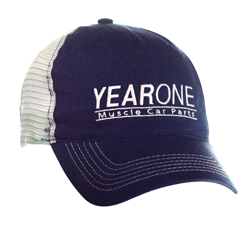 YearOne trucker-style hat with vintage YEARONE Muscle Car Parts logo. Color : Blue
