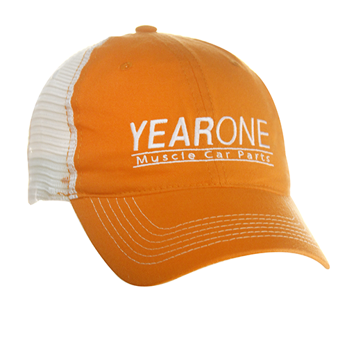 YearOne trucker-style hat with vintage YEARONE Muscle Car Parts logo. Color : Orange