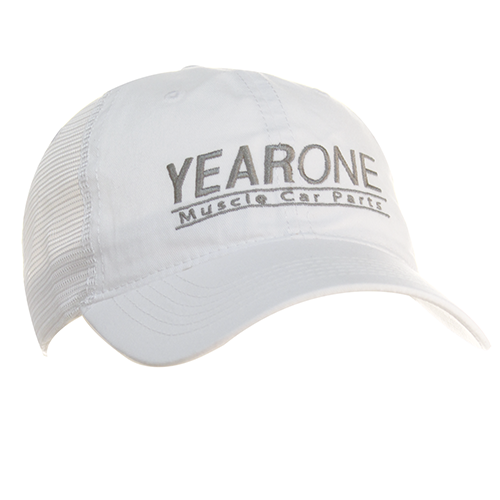 YearOne trucker-style hat with vintage YEARONE Muscle Car Parts logo. Color : White
