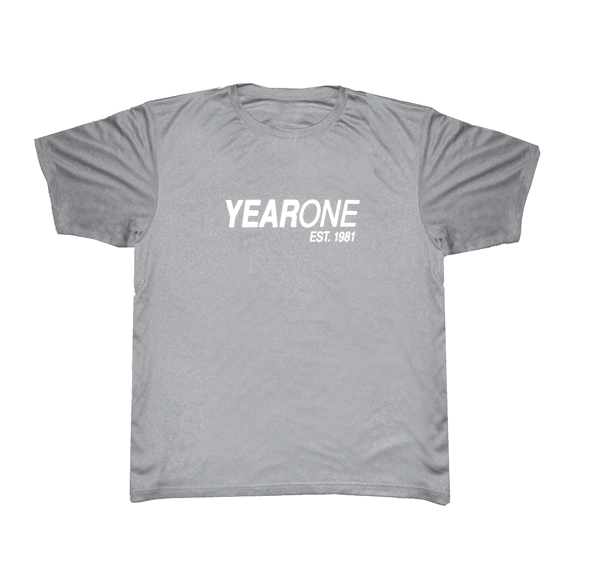 YearOne Cool-N-Dry short sleeve sport T-shirt. XX-large. Grey. Color : Grey