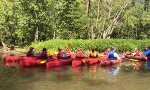 Group of Kids Kayaking