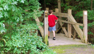 Boy Walking on Trail at Bessie Benner Metzenbaum Park