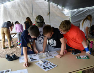 Students at Teaching Event with Naturalists
