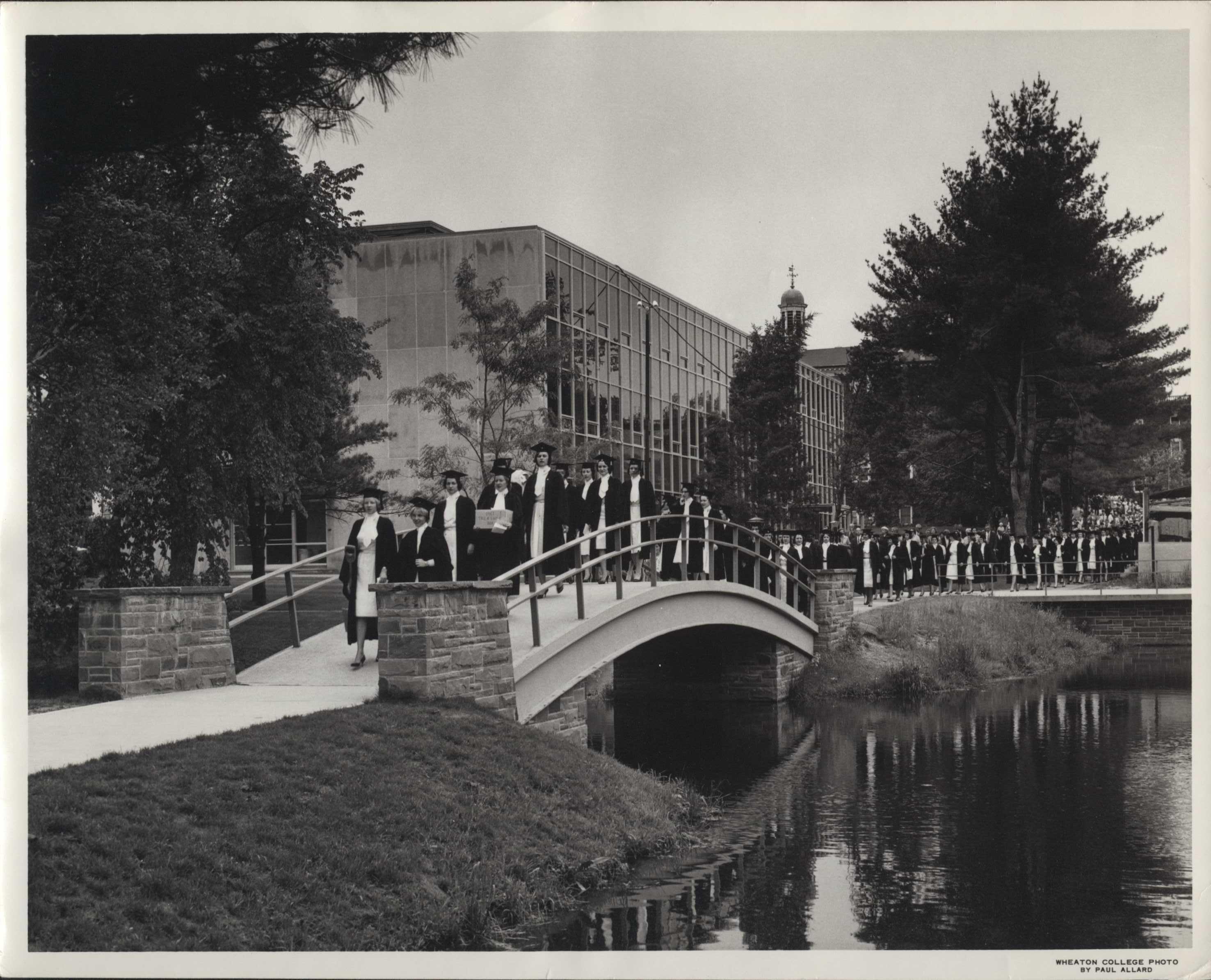 Class Day 1961 Over the Bridge