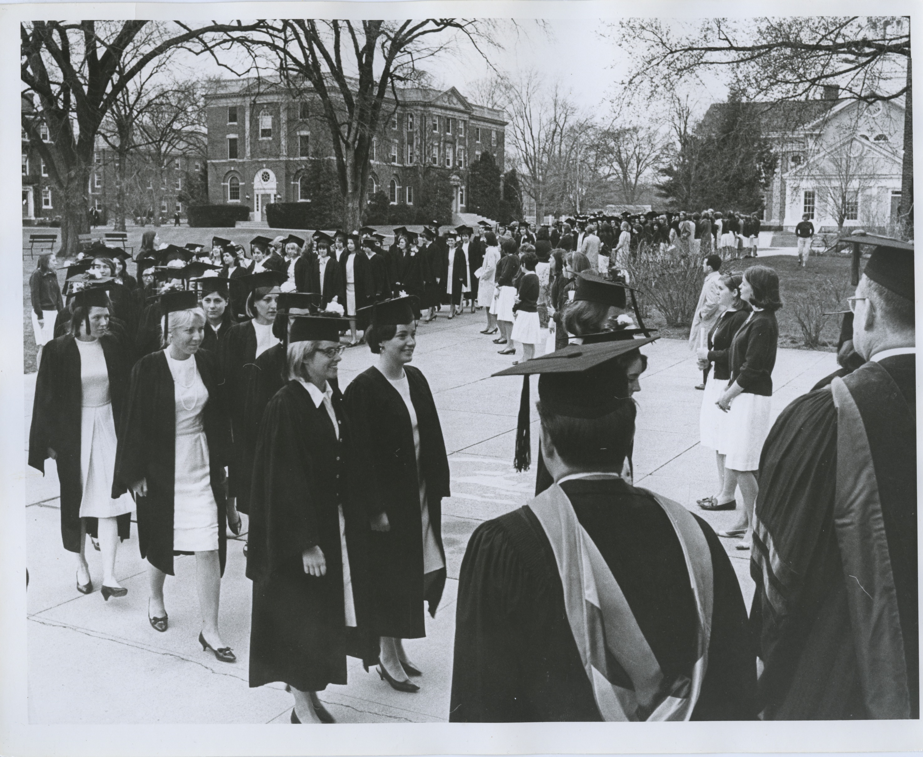 Class of 1966 Proceeding Into Chapel for Graduation Ceremony