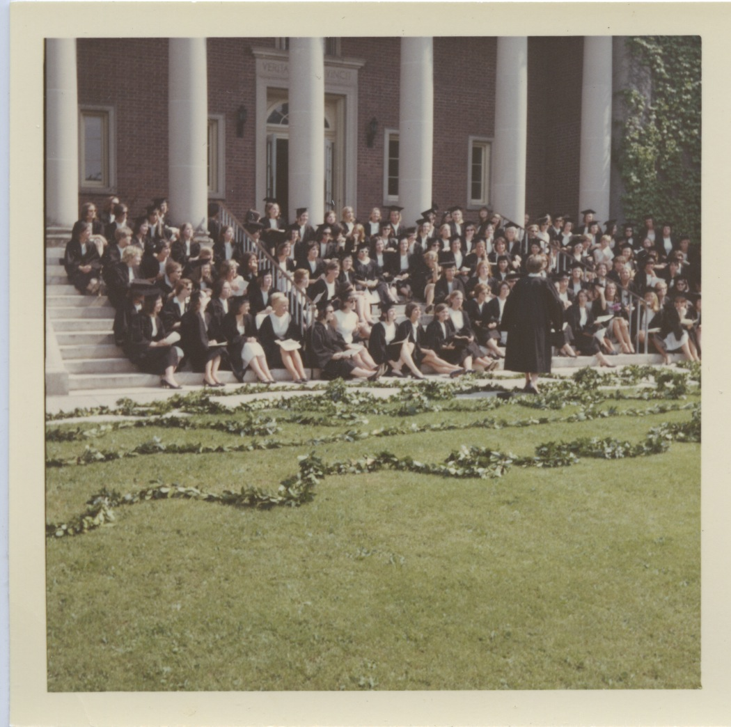 Class of 1966 on the Steps of the Library
