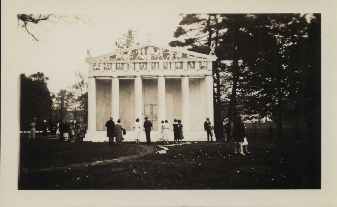 Stage settings for May Day Play, 1931