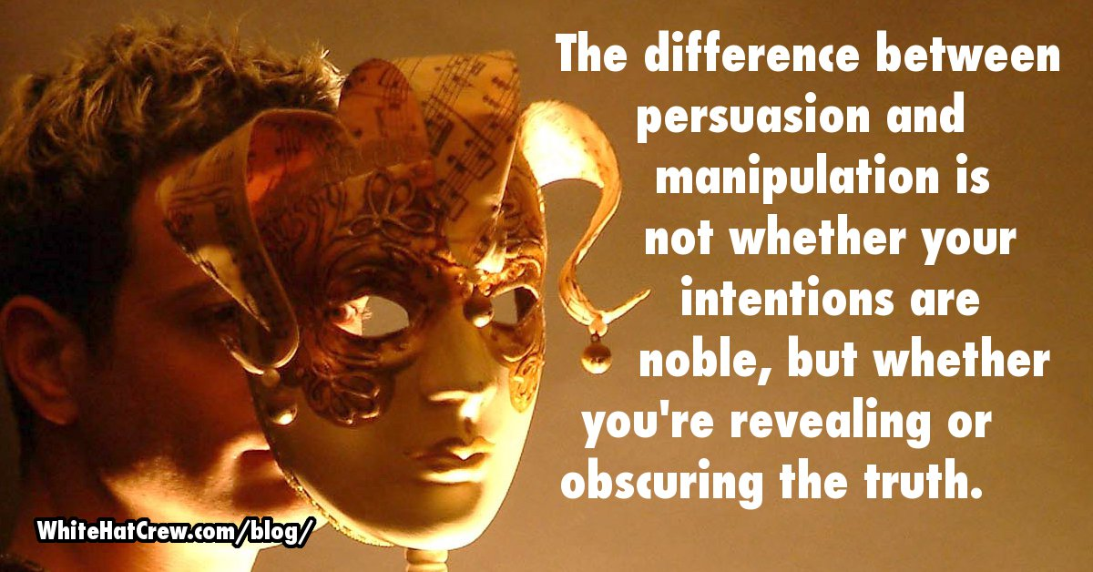 what is the difference between persuasion and manipulation What is the difference between influence and manipulation coercion and persuasion shari alexander shares the answers with a very relatable story.