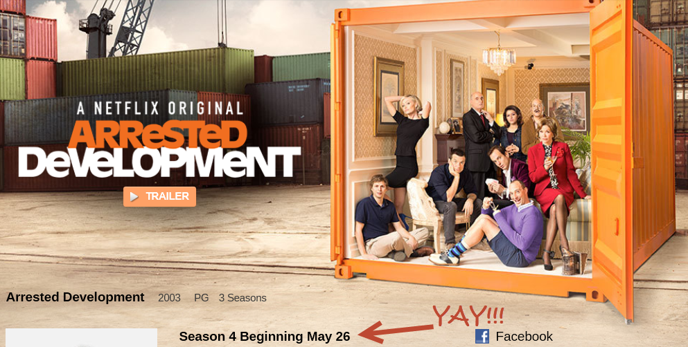 On Netflix Canada SOON: Arrested Development Season 4!