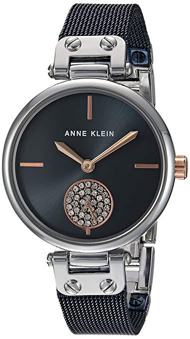 Anne Klein AK/3001BLRT Swarovski Crystal Accented Bracelet Women's Watch
