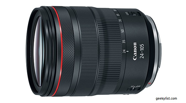 Canon RF 24–105mm Mirrorless zoom lens (F4 L IS USM)