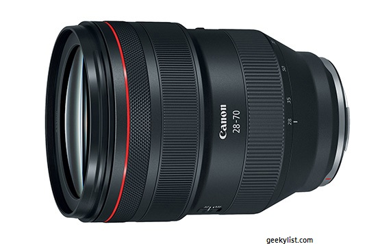 Canon RF 28–70mm Mirrorless zoom lens (F2 L USM)