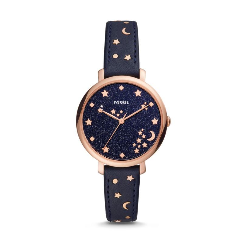 Fossil ES4521P Jacqueline black leather women's watch