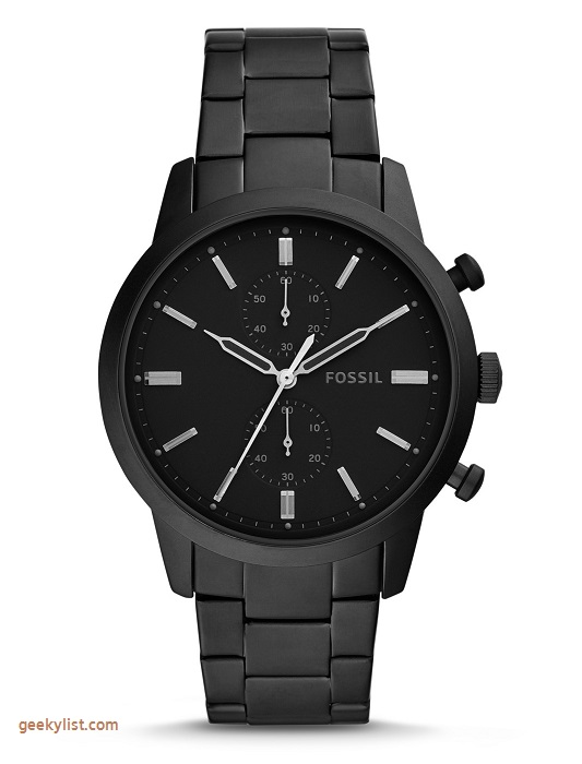 Fossil FS5502P Townsman Chronograph black stainless steel men's watch