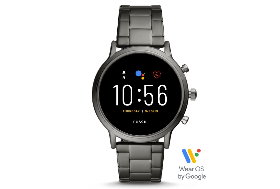 Fossil Gen 5 (FTW4024P) Mens Smartwatch - The Carlyle HR Smoke Stainless Steel