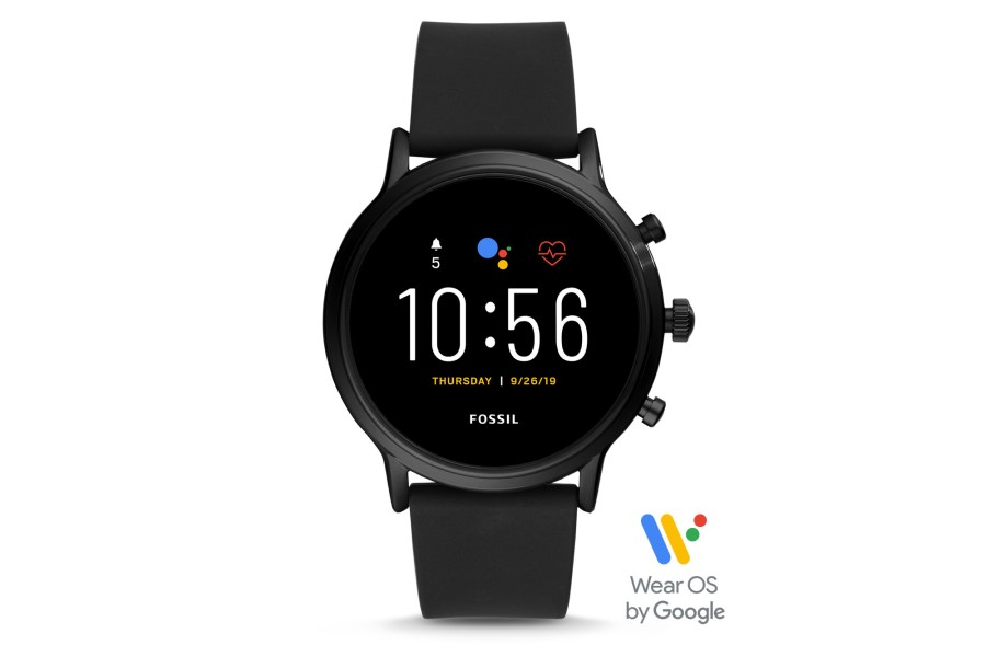 Fossil Gen 5 (FTW4025P) Mens Smartwatch - The Carlyle HR Black Silicone