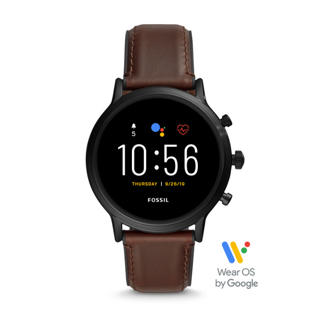 Fossil Gen 5 (FTW4026P) Mens Smartwatch - The Carlyle HR Dark Brown Leather
