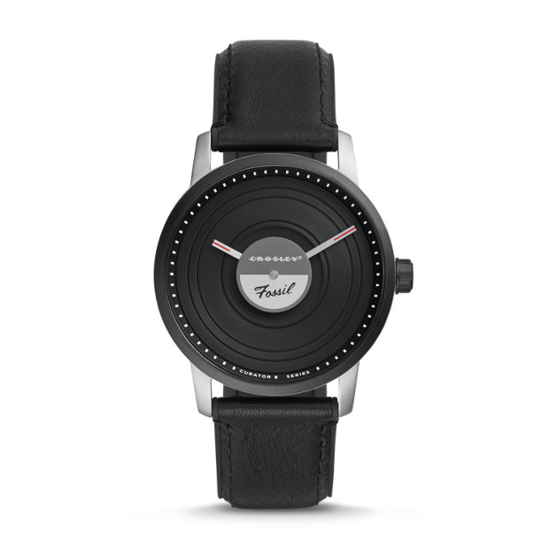 Fossil x Crosley (LE1060P) Limited Edition Leather Watch