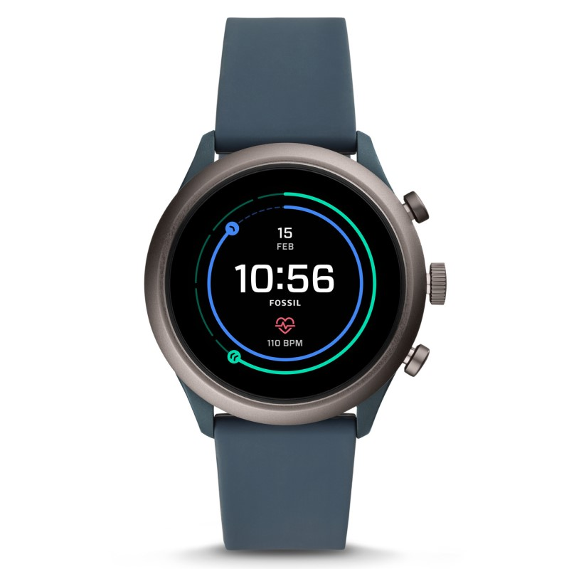 Fossil Sport FTW4021P Men's Smartwatch (smokey blue silicone)