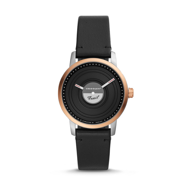 Fossil x Crosley (LE1061P) Limited Edition Leather Watch
