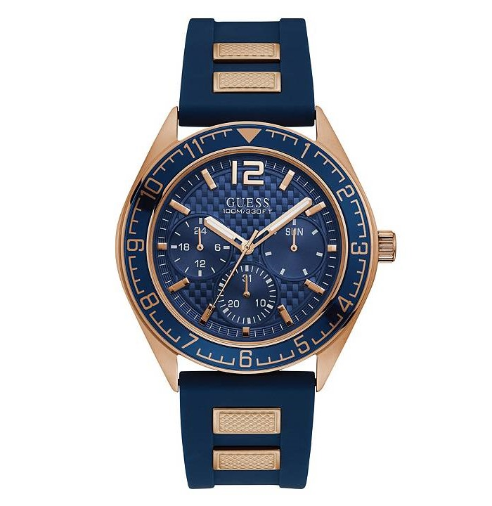 Guess U1167G3 Rose Gold and Blue Multi-function Watch
