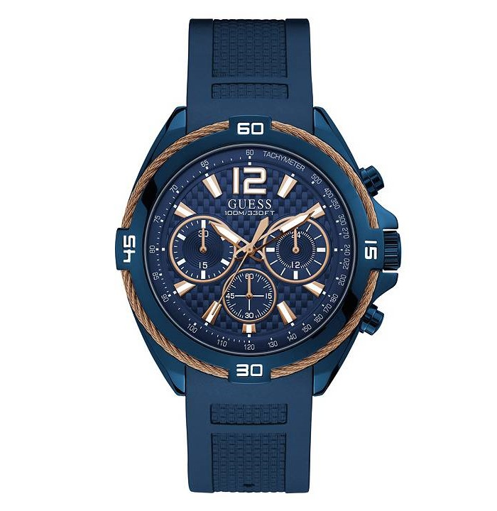 Guess U1168G4 Rose Gold and Blue Chronograph Men's Watch