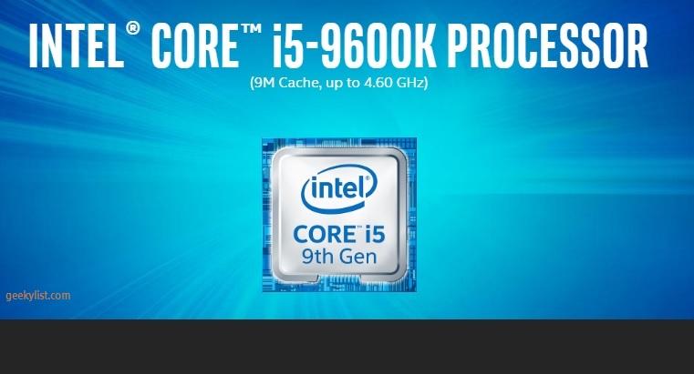 Intel Core i5-9600K (BX80684I59600K) Desktop Processor