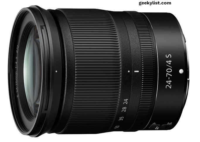 Nikkor Z 24-70mm F/4 lens for Nikon mirrorless camera