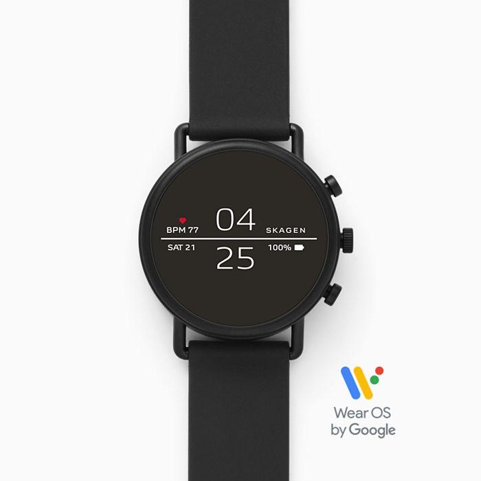 Skagen Falster 2 (SKT5100) Smartwatch - Black Silicone