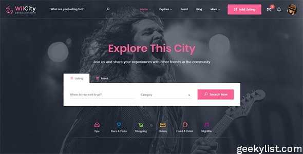 Wilcity – Directory Listing (Classified Ads) WordPress Theme