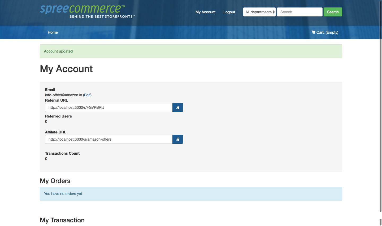 Affiliate Account Details