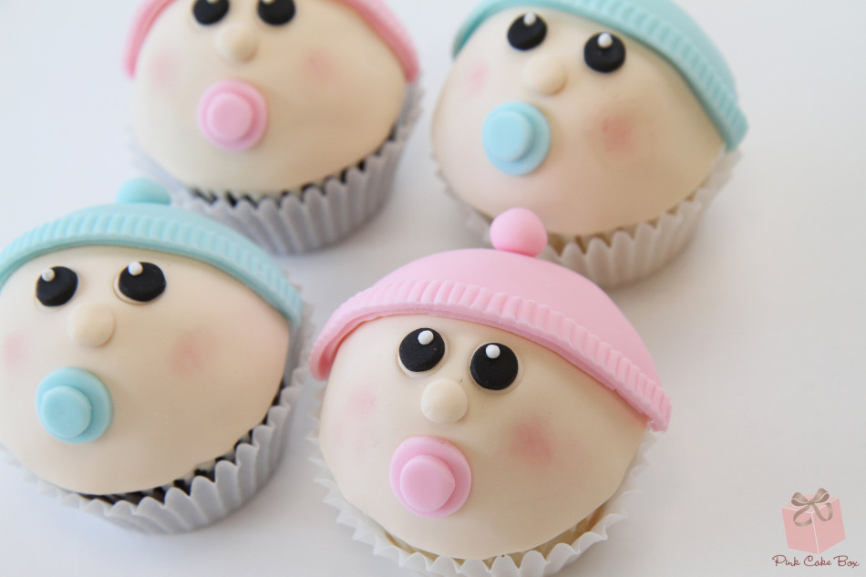 Gender Reveal Cup Cakes