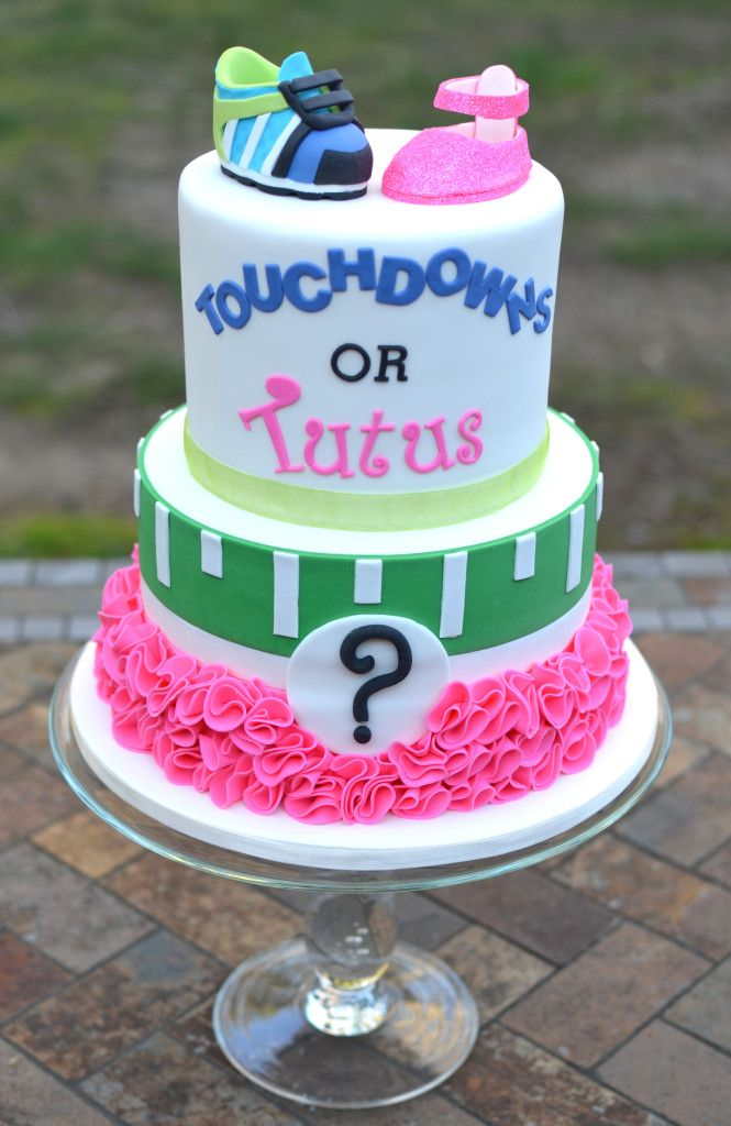 Touchdowns or Tutus Cake