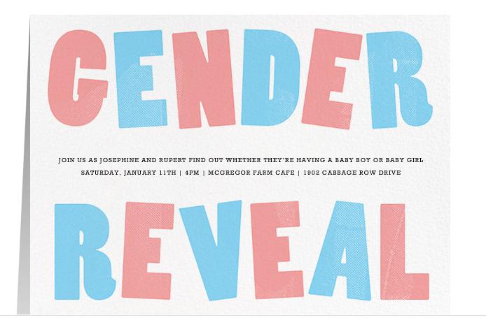 creative  u0026 unique gender reveal party invitation ideas