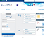 captura de tela de LAN Airlines