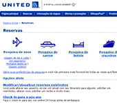 captura de tela de United Airlines