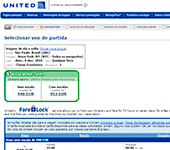 Site de United Airlines