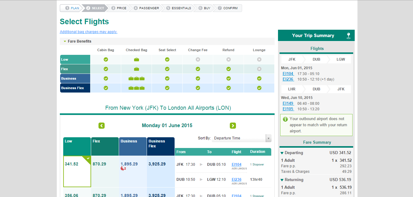 Aer Lingus: airline reviews and airline comparison