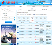 Screenshot of China Eastern Airlines