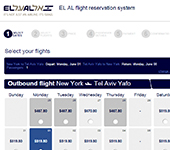 Screenshot of El Al