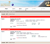 Screenshot of Royal Jordanian