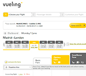 Screenshot of Vueling